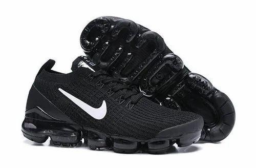 Black Sports Nike Vapormax Shoe, Size