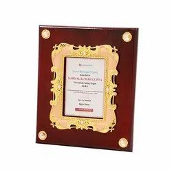 Wooden With Frame Trophy