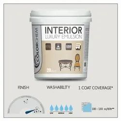 Colorchem High Sheen Interior Luxury Emulsion Paint, Packaging Size: 20 Ltr