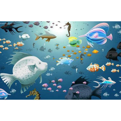 Pvc 3d Sea Wallpaper Rs 90 Square Feet Ceiling Paradise Id