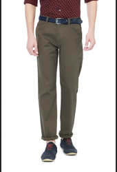 Peter England Olive Trousers