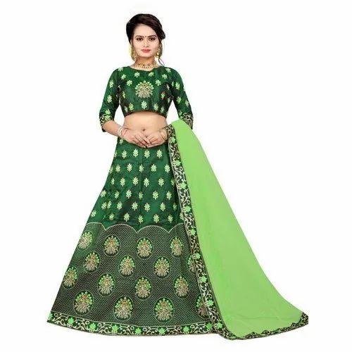 9d0adf045a Green Party Wear Fancy Lehenga Choli at Rs 2199 /piece | Punagam ...
