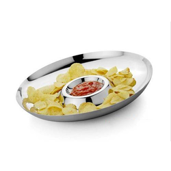 SS Chip And Dip Plate