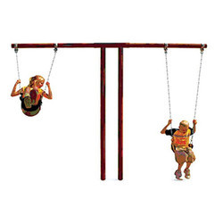 T Frame Swing 2 Seater Playground Equipment