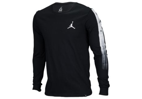 26efd334947 Men Black/white Jordan Scorch Long Sleeve T Shirt | ID: 16145099233