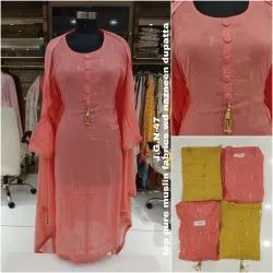 Party Wear, Wedding Wear, Bridal Wear Pink Yellow Ethnic Designer Suit