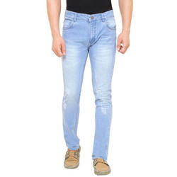 Men Sky Blue Jeans