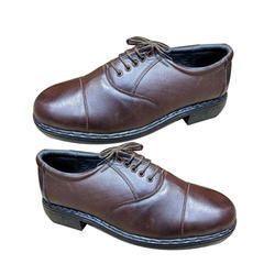Amriwala Brown Police Leather Shoes