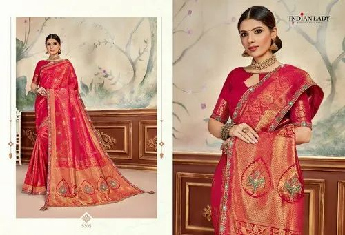Indian Lady Party Wear Sarees
