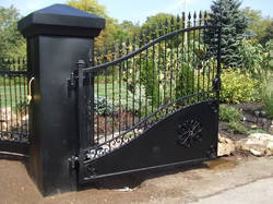 Black And Brown Cast Iron Iron Gate