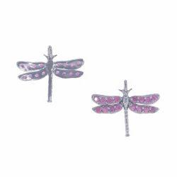 Ruby Gemstone Dragonfly Pendant