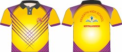 Yellow and Violet Sports T-Shirt