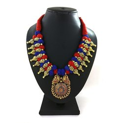 Wedding Wear Meenakari Kolhapuri Necklace
