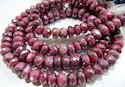 Natural Garnet Color Moonstone Beads