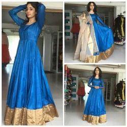 9f8c29763e2 Silk Full Sleeves Ladies Gown