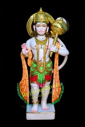 Raj Creations Marble Hanuman Ji Murti