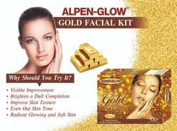 Alpen Glow ALPEN-GLOW Gold Facial Kit (500 gm), Packaging Size: 500 Gram, For Beauty Parlor