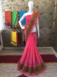 Riva Enterprise Chiffon With Heavy Lace Saree