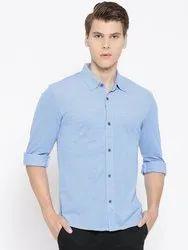 Collar Neck Casual Wear Harbornbay Men Regular Fit Formal Shirt, Size: 40