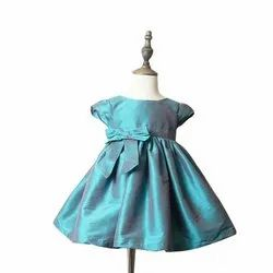 Silk Girl Girls Kids Party Wear Frocks, Age: 18 Months To 4 Years