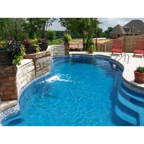 Fibreglass Fiberglass Swimming Pools, Capacity: 1.8-7 Ton, For ...