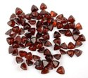 Natural Mozambique Garnet Trillion Normal Cut Gemstone