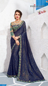 Violet Color Moss Chiffon Saree