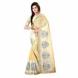 Cotton Embroidery Sarees