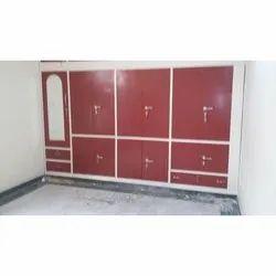 Domestic Red Steel Almirah