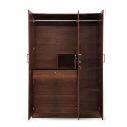 Matik Wooden and Hard Board 3 Door Wardrobe