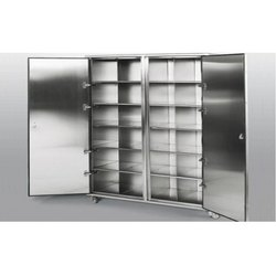 Maxx Furniture Double Door Stainless Steel Cupboard, For Office,Hospital
