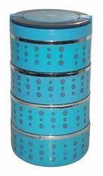 热午餐保温4容器不锈钢内双层墙Tiffin。
