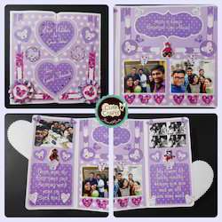 Super Birthday Card Square Purple Love Handmade Greeting Card Size H Personalised Birthday Cards Rectzonderlifede