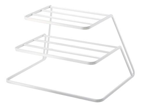 K 3 Tier Corner Shelf Counter And Cabinet Organizer For Plates Storage Rack White