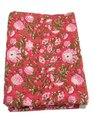 Vinayak Handicraft Cotton Hand Block Flower Design /Floral Design Fabric