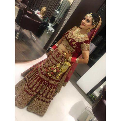 d668921375 Maroon All Sizes Latest Bridal Lehenga Online On Rent, Rs 10000 ...