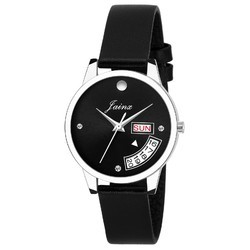 Jainx Black Day and Date Functioning Analog Watch for Women & Girls JW602