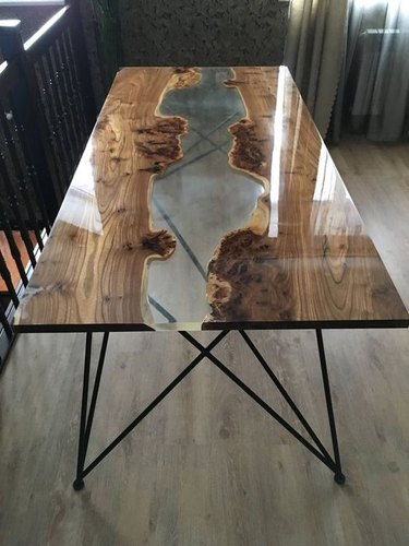 Reclaimed Wood Epoxy Resin Table