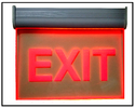 Exit Signage With Battery Backup