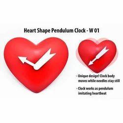 Heart Shape Pendulum Clock