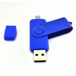 Blue Swivel OTG Pendrive