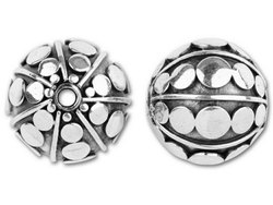 Sterling Silver Beads, Size: 12 Mm, Shape: Round