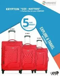 Polyester KRYPTON TROLLEY SUITCASE, Number Of Wheel: 4, Size: 20