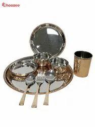 Copper / Stainless Steel Dinner Set (9 Pcs)