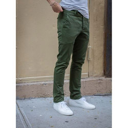 Mens Olive Green Chinos
