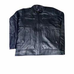 Men Leather Full Sleeve Jacket, Size: S to XL