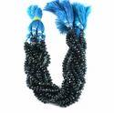Blue London Topaz Roundel Gemstone Faceted Beads