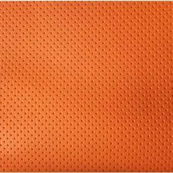 Orange Artificial Leather Fabric