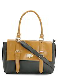 Black Tan Handbag