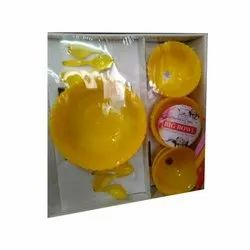 Yellow Plastic Cook Serve Set, Microwave Safe: Yes, Round